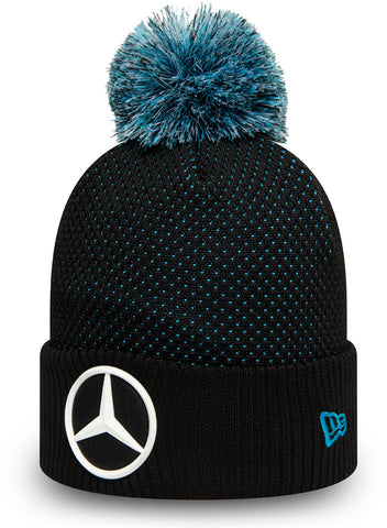 Mercedes AMG Petronas New Era Black Bobble Hat - pumpheadgear, baseball caps