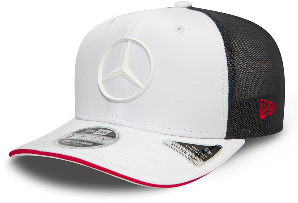 Mercedes AMG Petronas New Era 950 White Stretch Snapback Cap - pumpheadgear, baseball caps