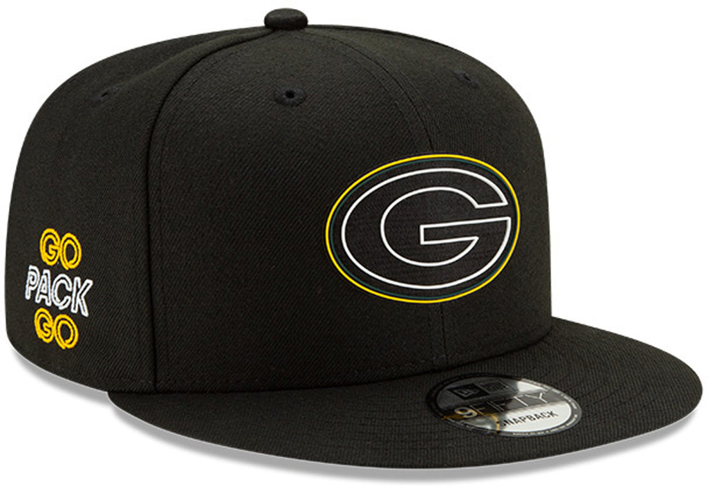 Green Bay Packers New Era 950 Kids NFL 2020 Draft Snapback Cap (Ages 5 - 10) - pumpheadgear, baseball caps