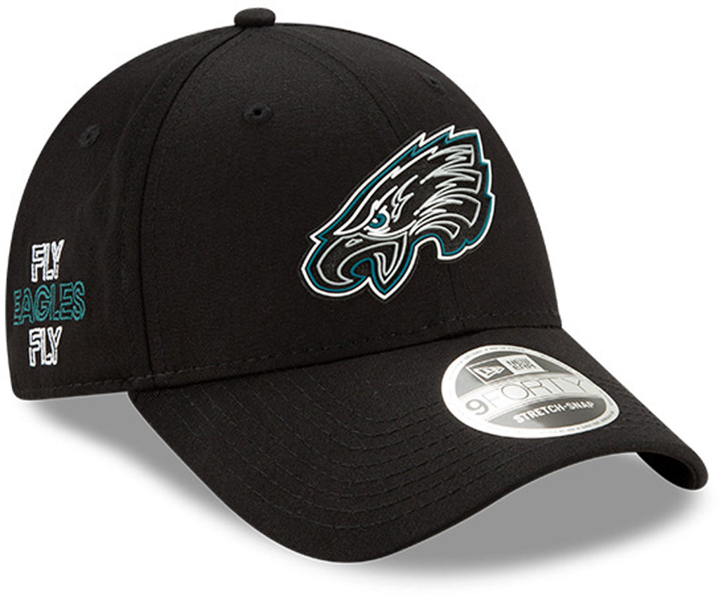 Philadelphia Eagles New Era 940 Kids NFL 2020 Draft Stretch Snap Cap(Ages 5 -10) - pumpheadgear, baseball caps