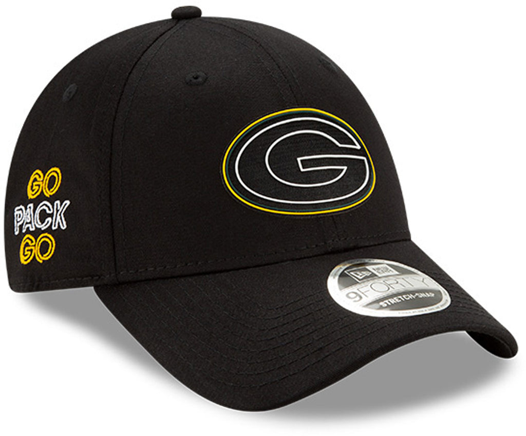 Green Bay Packers New Era 940 Kids NFL 2020 Draft Stretch Snap Cap (Ages 5 -10) - pumpheadgear, baseball caps