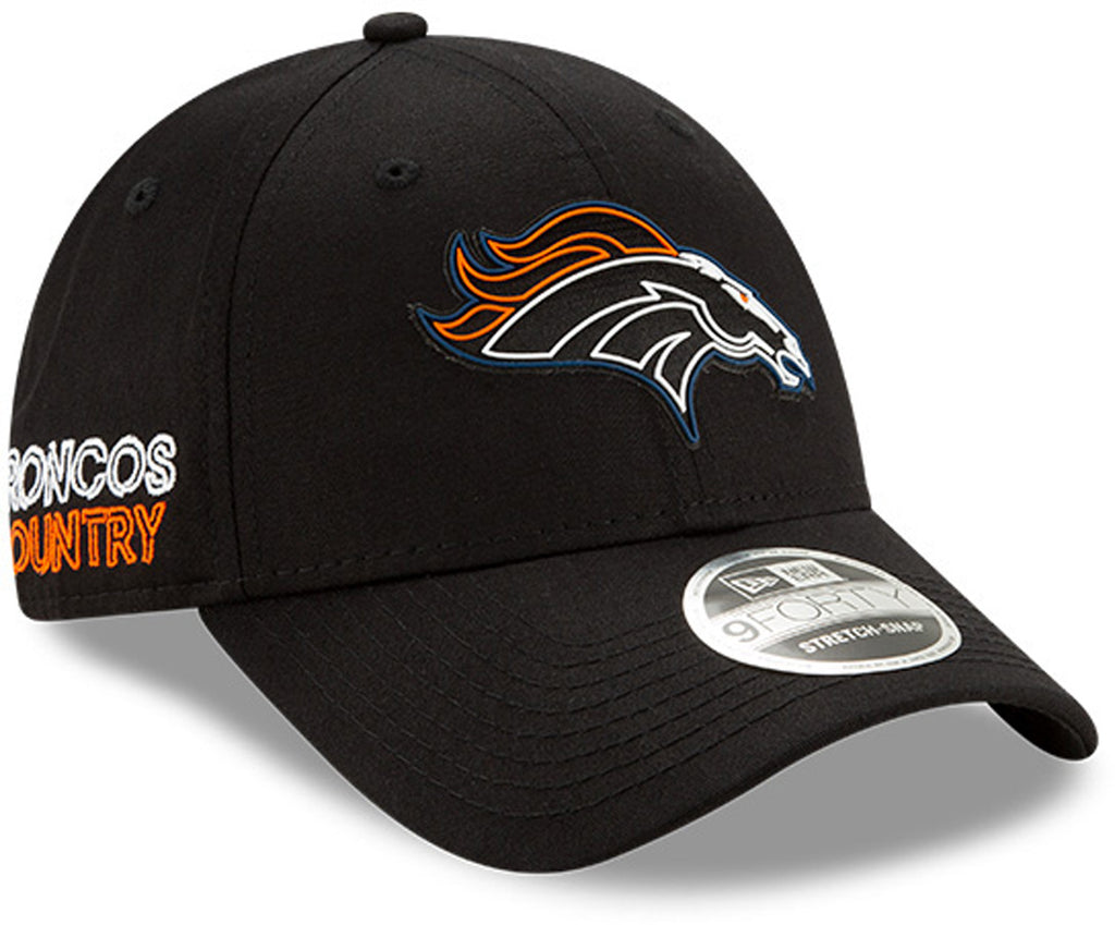 Denver Broncos New Era 940 NFL 2020 Draft Stretch Snap Cap - pumpheadgear, baseball caps