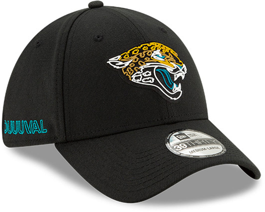 Jacksonville Jaguars New Era 3930 Kids NFL Draft Stretch Fit Cap (Ages 2 - 10) - pumpheadgear, baseball caps