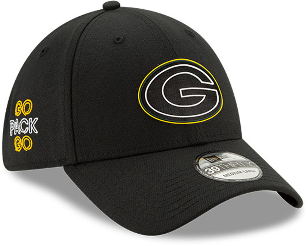 Green Bay Packers New Era 3930 Kids NFL Draft Stretch Fit Cap (Ages 2 - 10) - pumpheadgear, baseball caps