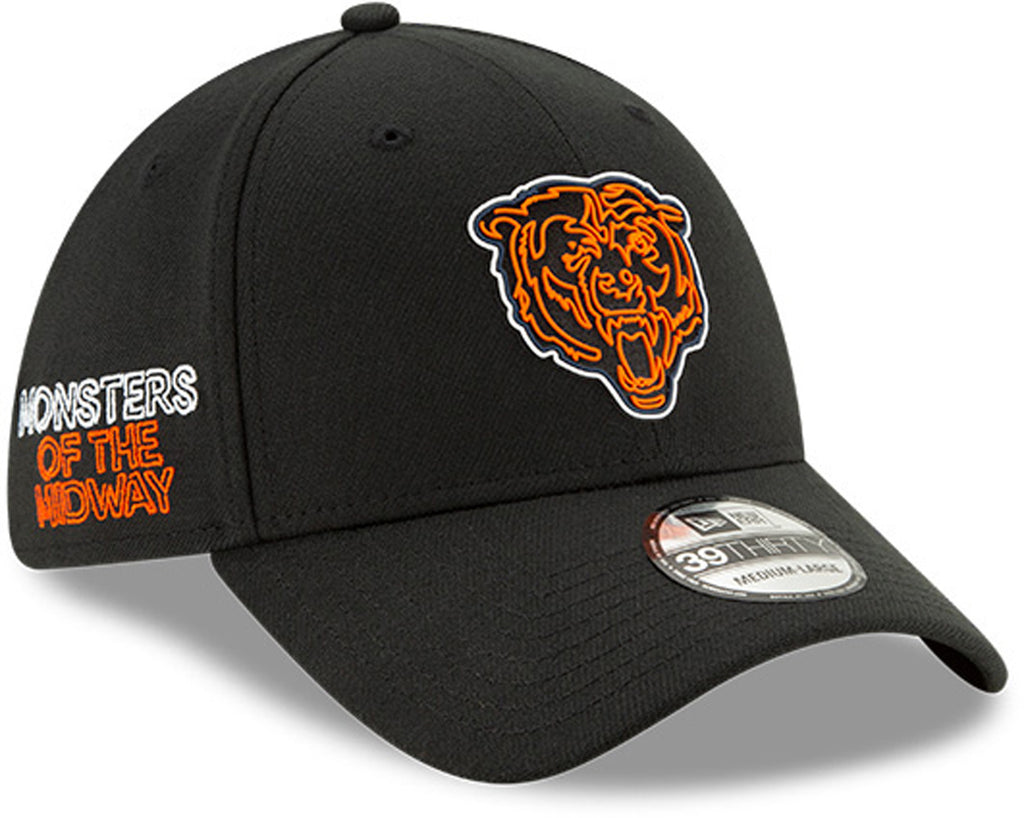Chicago Bears New Era 3930 Kids NFL Draft Stretch Fit Cap (Ages 2 - 10) - pumpheadgear, baseball caps