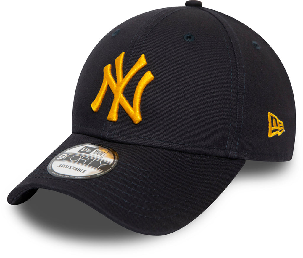 NY Yankees Kids New Era 940 League Essential Navy Baseball Cap (Ages 2 - 10 years) - pumpheadgear, baseball caps