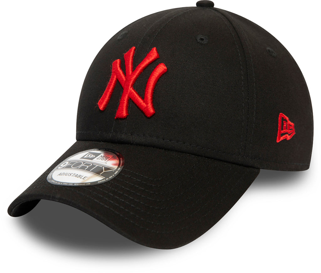 NY Yankees Kids New Era 940 League Essential Black Baseball Cap (Ages 2 - 10 years) - pumpheadgear, baseball caps