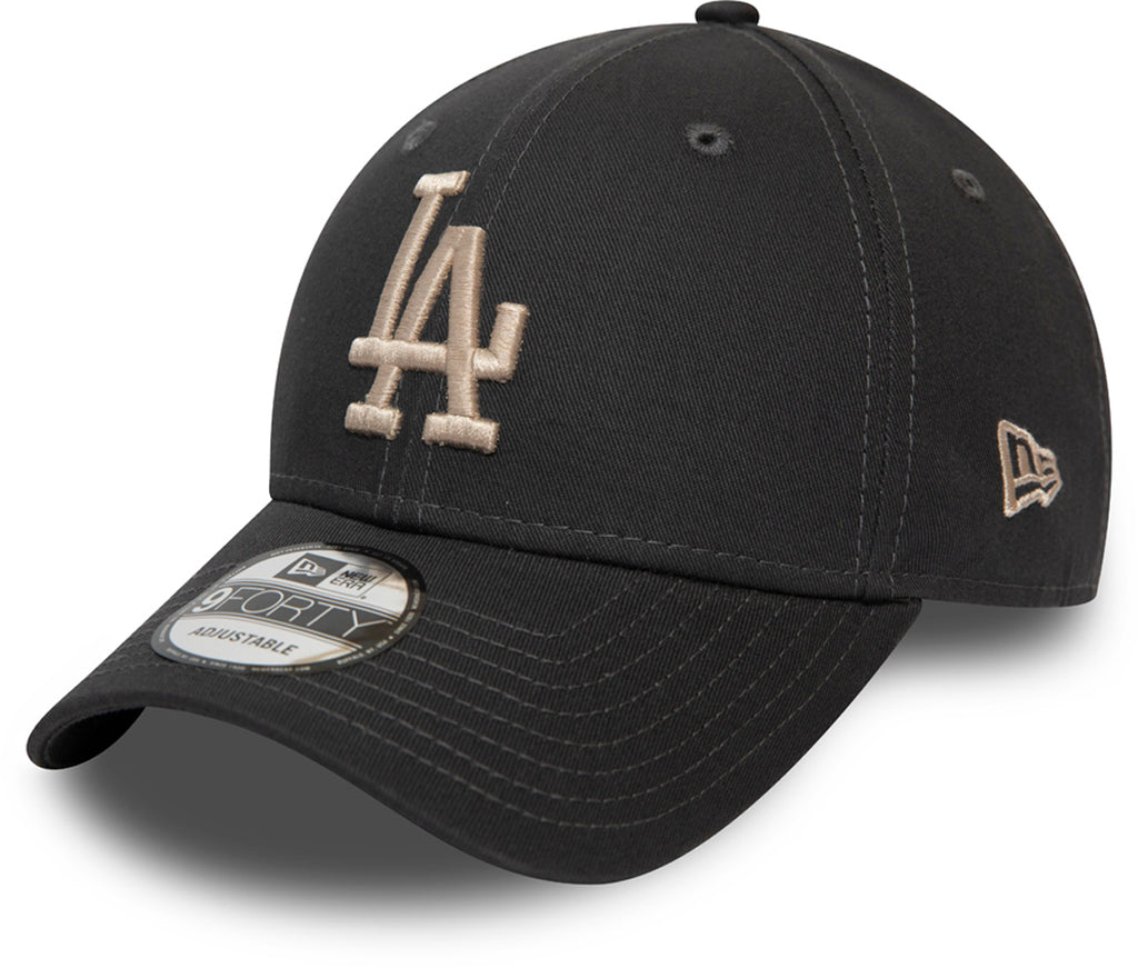 LA Dodgers Kids New Era 940 League Essential Graphite Baseball Cap (Ages 2 - 10 years) - pumpheadgear, baseball caps