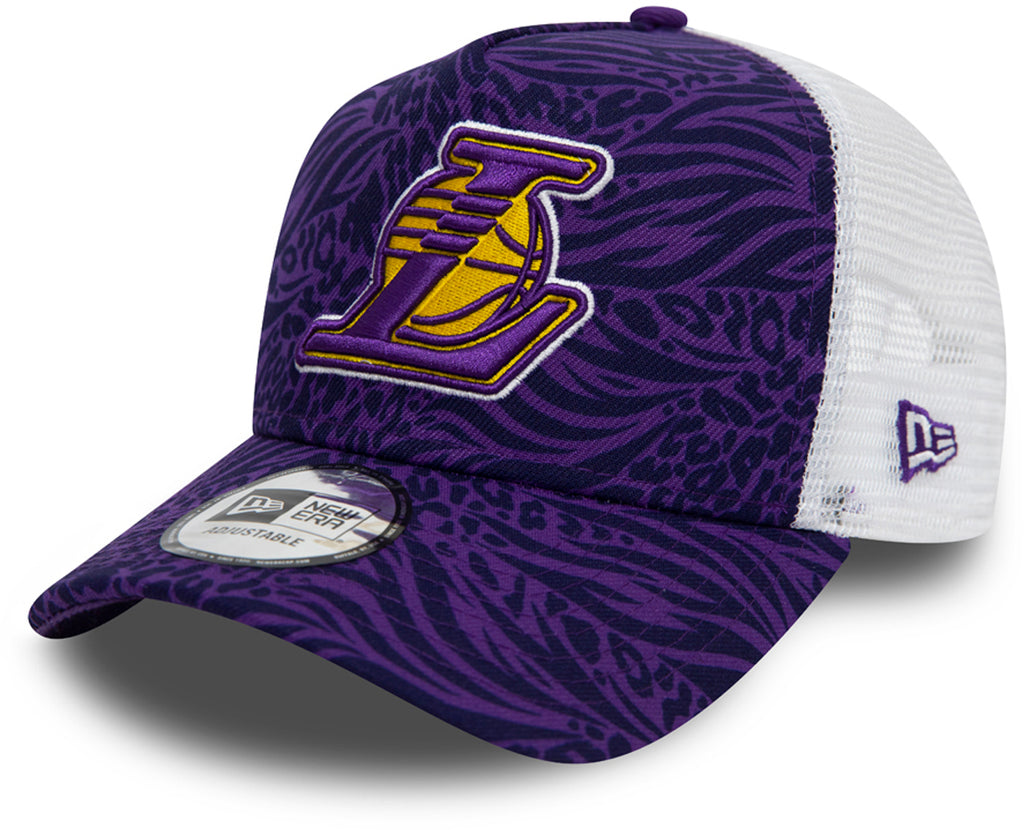 LA Lakers New Era Trucker Hook Purple NBA Cap - pumpheadgear, baseball caps