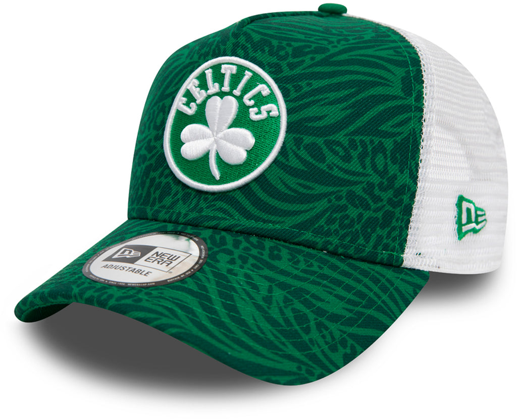 Boston Celtics New Era Trucker Hook Green NBA Cap - pumpheadgear, baseball caps
