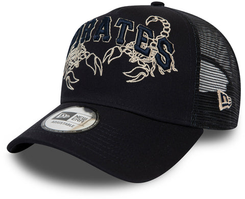 Pittsburgh Pirates New Era Tech Fabric Licensed Navy Trucker Cap - pumpheadgear, baseball caps