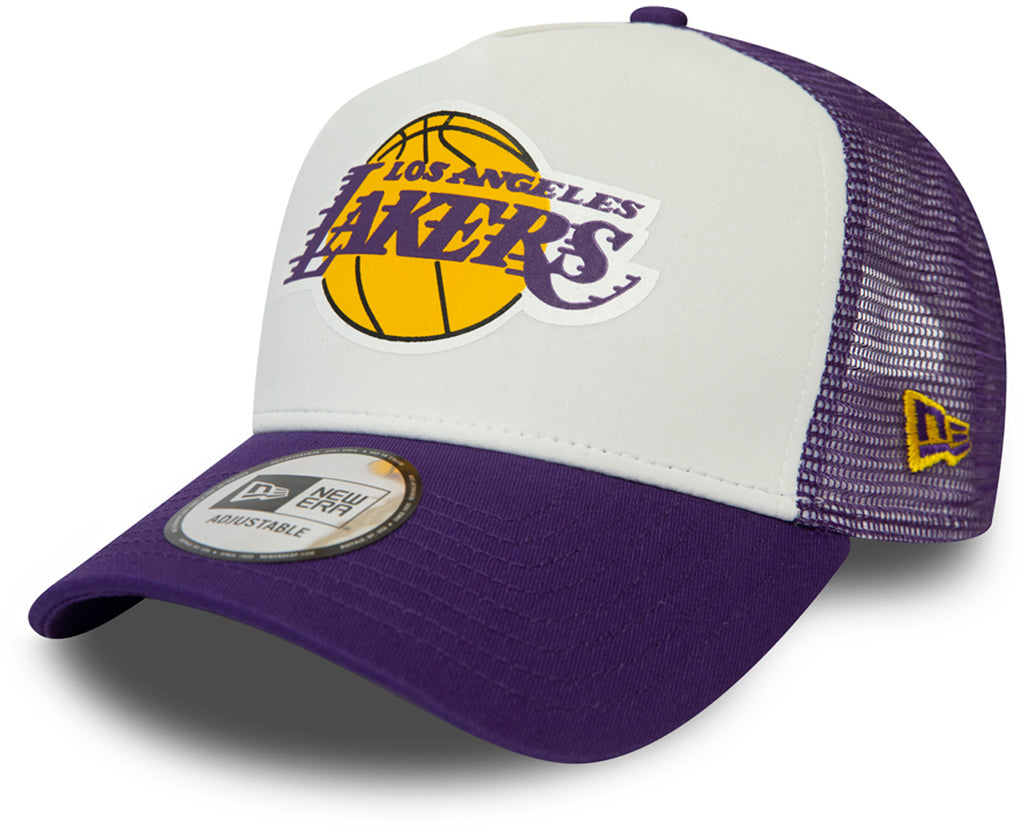 Los Angeles Lakers New Era NBA Team Colour Block Trucker Cap - pumpheadgear, baseball caps