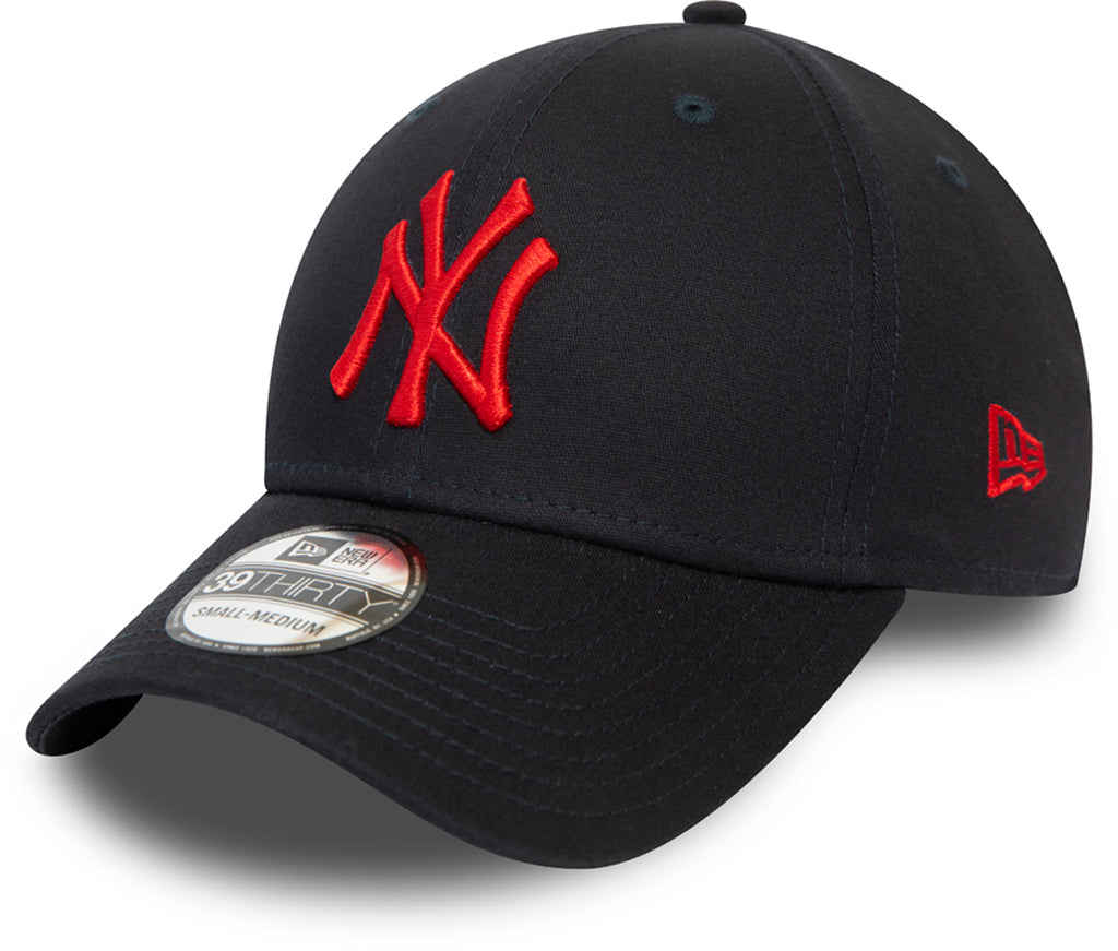 NY Yankees New Era 3930 League Essential Stretch Fit Navy Baseball Cap