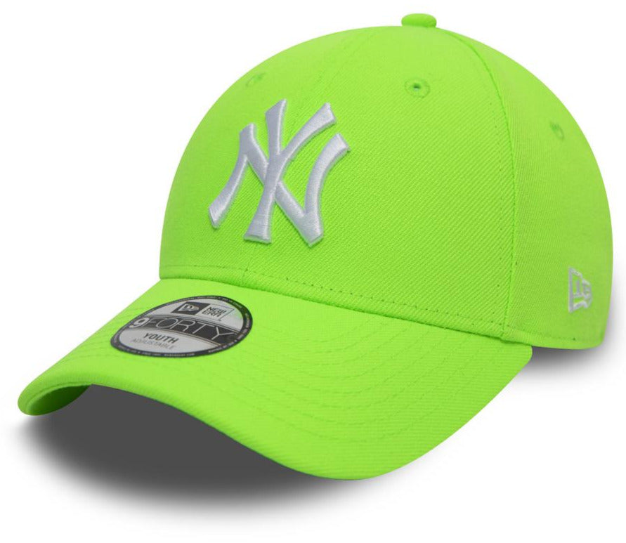 NY Kids New Era 940 League Essential Neon Orange Baseball Cap (Ages 2 - 10 years) - pumpheadgear, baseball caps