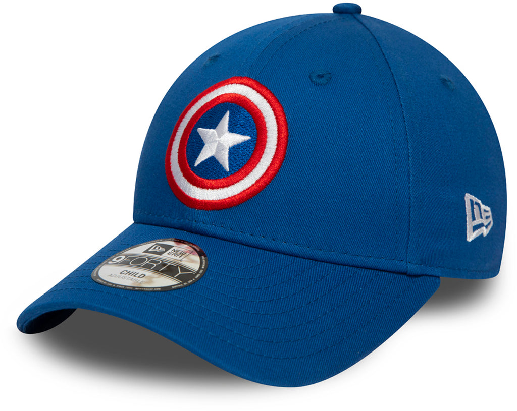 Captain America Kids New Era 940 Character Cap (Ages 2 - 10 years) - pumpheadgear, baseball caps
