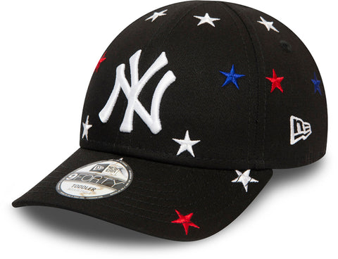 NY Yankees Kids New Era 940 Black Stars Baseball Cap (Ages 2 - 10 years) - pumpheadgear, baseball caps