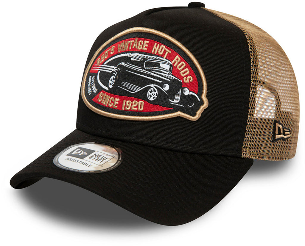 New Era Reds Vintage Hot Rods Trucker Cap