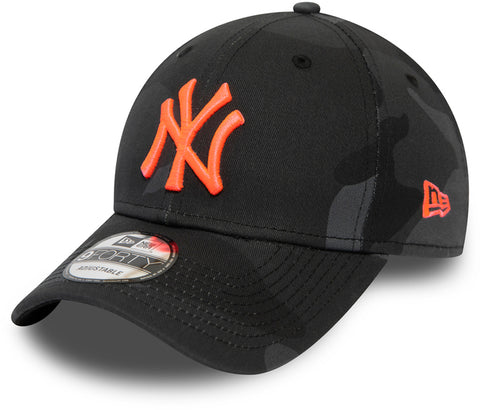NY Yankees New Era 940 Midnight Camo Essential Baseball Cap - pumpheadgear, baseball caps