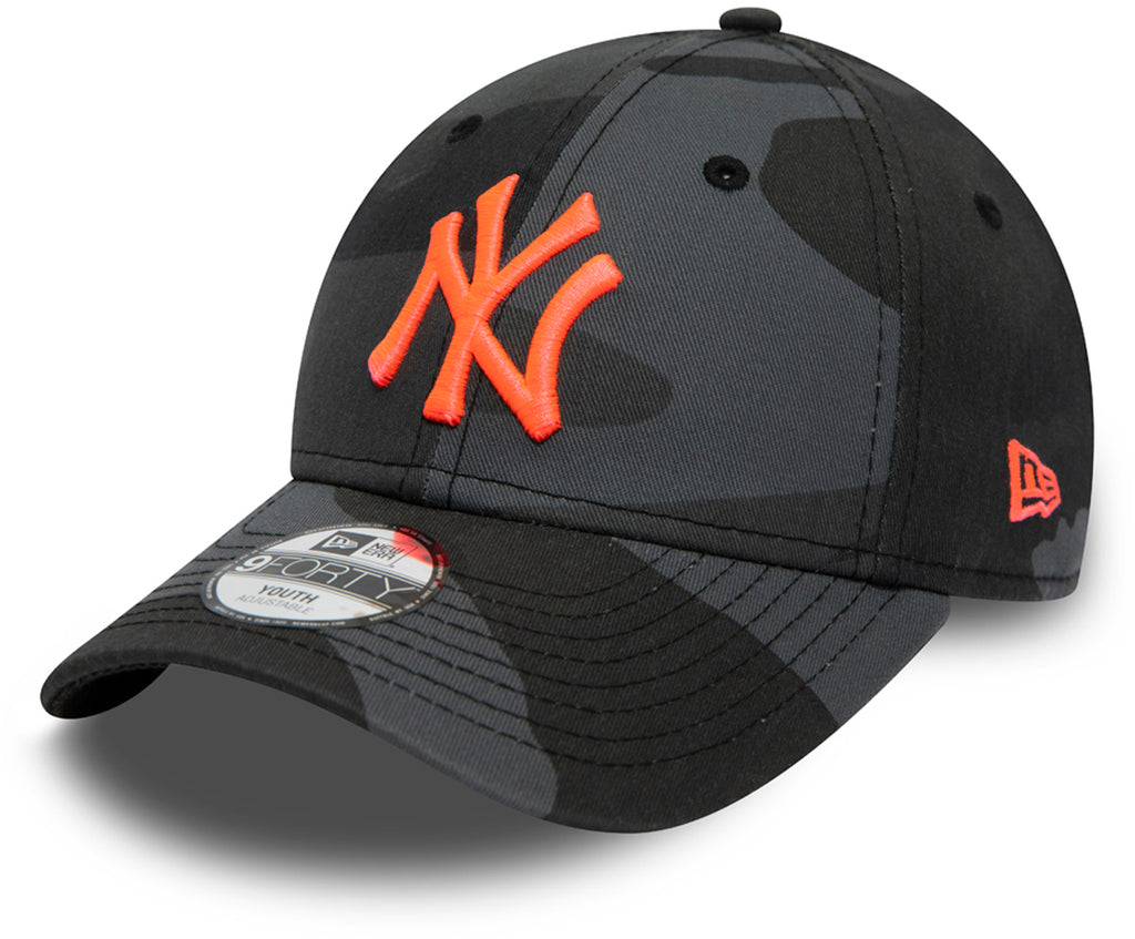 NY Yankees Kids New Era 940 Midnight Camo Essential Baseball Cap (Ages 2 - 10 years) - pumpheadgear, baseball caps