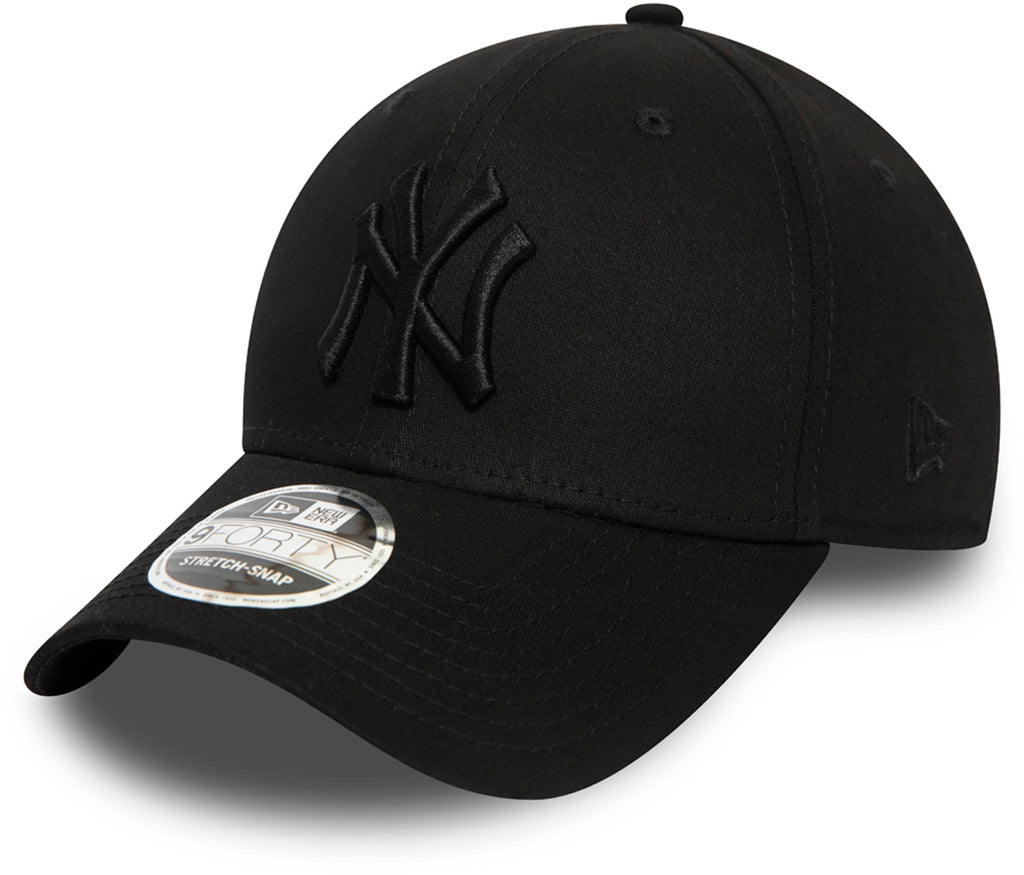 NY Yankees New Era 940 Black Stretch Snap Baseball Cap Cap - pumpheadgear, baseball caps