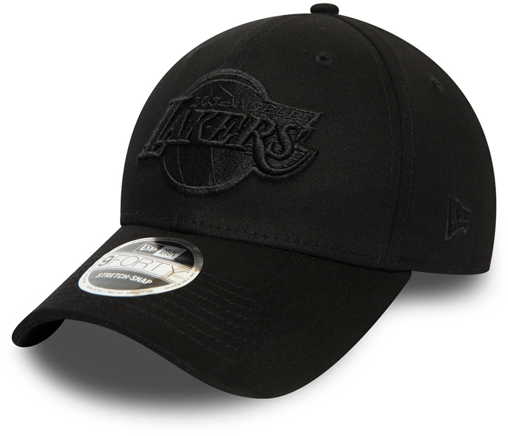 LA Lakers New Era 940 NBA Black Stretch Snap Cap - pumpheadgear, baseball caps