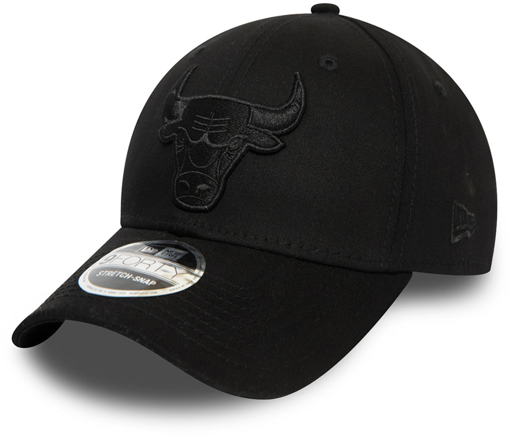 Chicago Bulls New Era 940 NBA Black Stretch Snap Cap - pumpheadgear, baseball caps