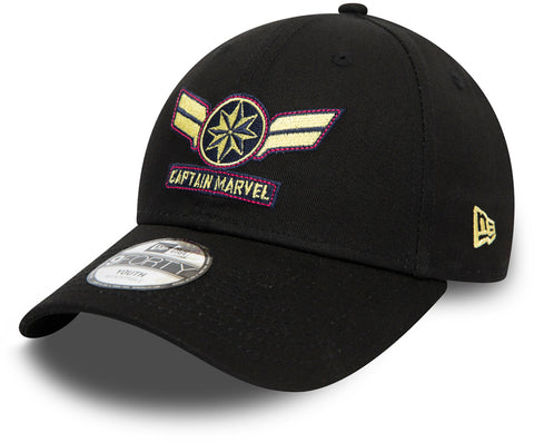 Captain Marvel Kids New Era 940 Character Cap (Ages 2 - 10 years) - pumpheadgear, baseball caps