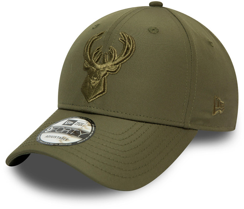 Milwaukee Bucks New Era 940 Tonal Nylon NBA Team Cap