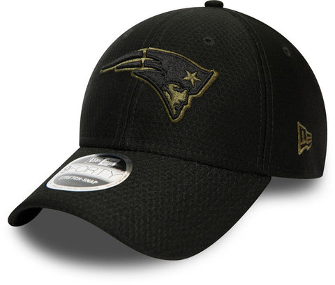 New England Patriots New Era 940 Tonal Black Snapback Cap