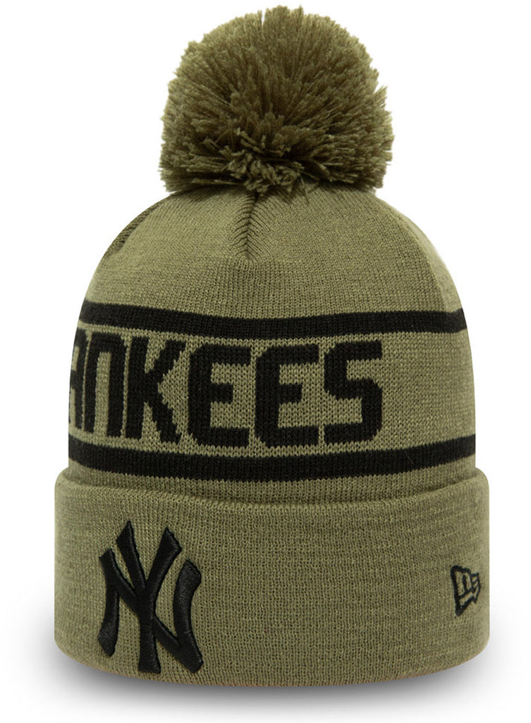 New York Yankees New Era MLB Team Jake Cuff Knit Bobble Hat