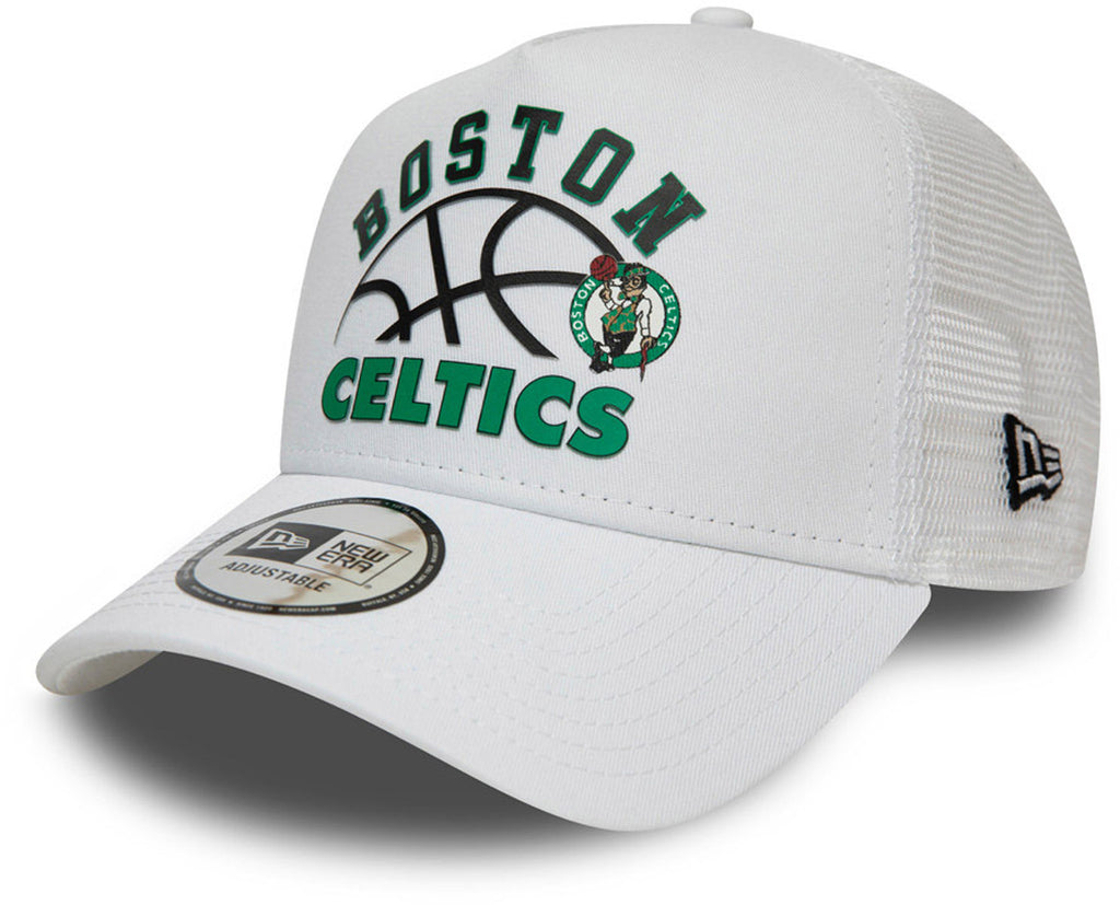 Boston Celtics New Era NBA Graphic A-Frame Trucker Cap