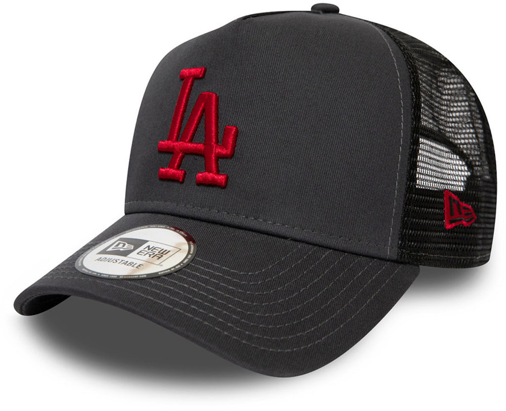 LA Dodgers New Era League Essential Grey Trucker Cap