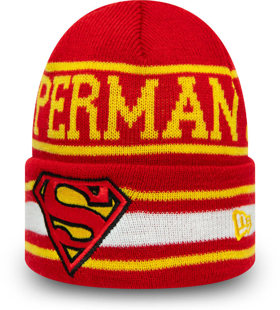 Superman New Era Kids DC Comics Character Knit Beanie (Age 4 - 10 Years)
