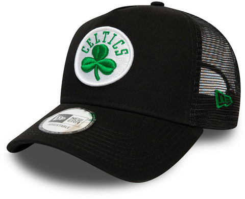Boston Celtics New Era Dark Base NBA Trucker Cap