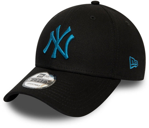 NY Yankees New Era 940 League Essential Black Baseball Cap