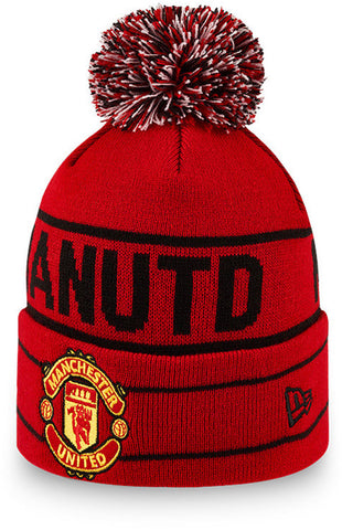 Manchester United Kids New Era Wordmark Bobble Hat (Ages 4 - 10 years)