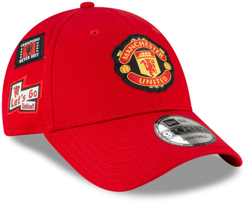 Manchester United New Era 940 Side Multi Patch Scarlet Cap