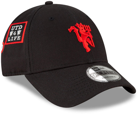 Manchester United New Era 940 Side Multi Patch Black Cap