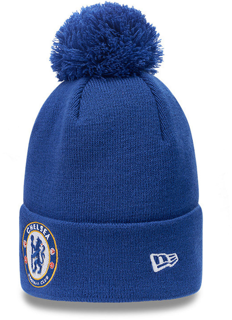 Chelsea FC New Era Cuff Knit Blue Bobble Hat