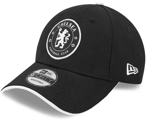 Chelsea FC New Era 940 Basic Logo Black Team Cap