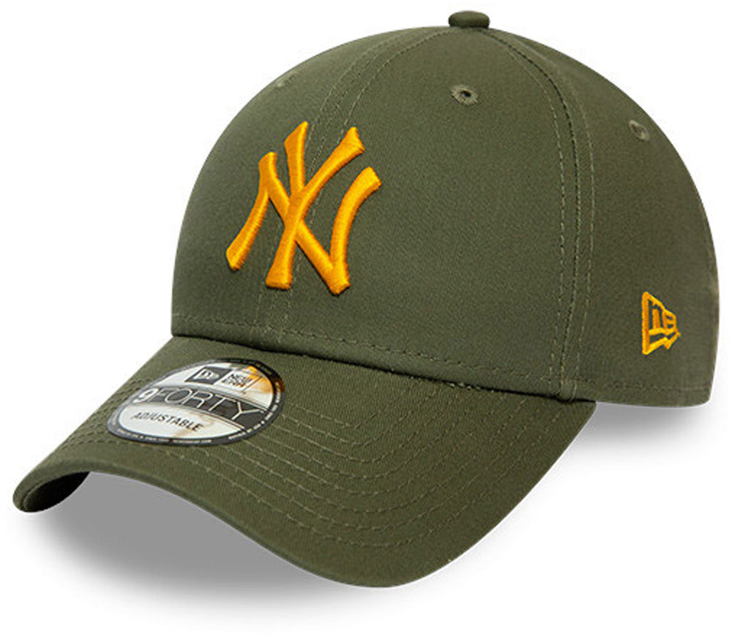 NY Yankees New Era Kids 940 League Essential Olive Cap (Ages 4 - 10 years)