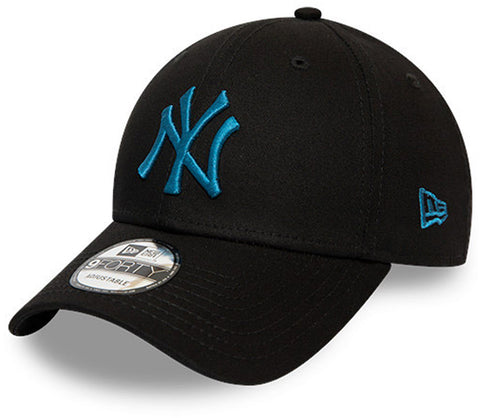 NY Yankees New Era Kids 940 League Essential Black Cap (Ages 4 - 10 years)