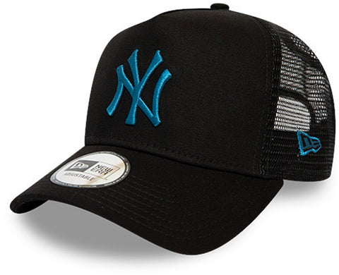 NY Yankees New Era Kids League Essential Black Trucker Cap (Ages 4 - 10 years)