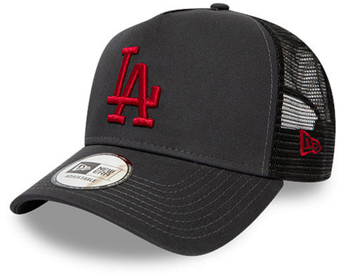 LA Dodgers New Era Kids League Essential Grey Trucker Cap (Ages 4 - 10 years)