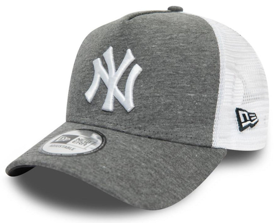 NY Yankees New Era Jersey Grey A-Frame Trucker Cap