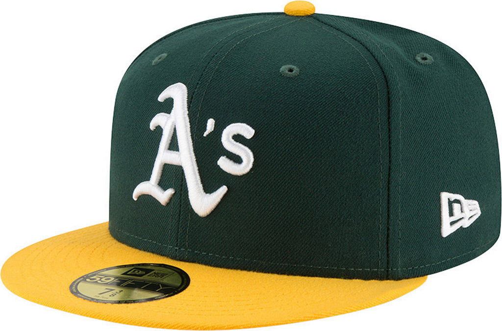 Oakland Athletic New Era 5950 AC Performance Team Baseball Cap