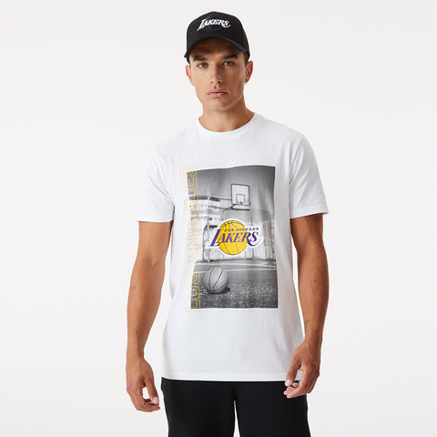 Los Angeles Lakers New Era NBA Photographic White T-Shirt