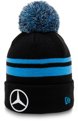 Mercedes EQ New Era Black Knit Team Bobble Hat