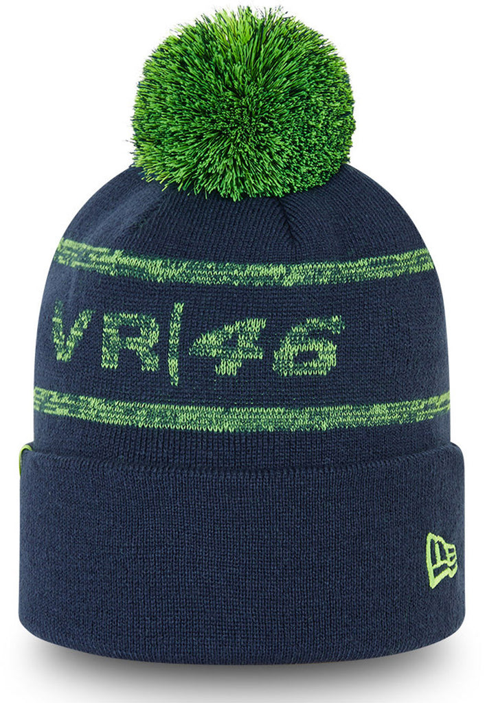 Valentino Rossi New Era VR46 Magic Knit Blue Bobble Hat