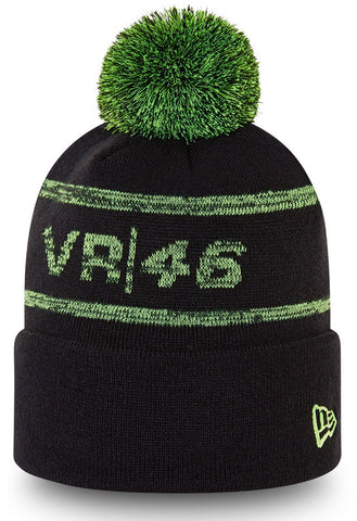 Valentino Rossi New Era VR46 Magic Knit Black Bobble Hat